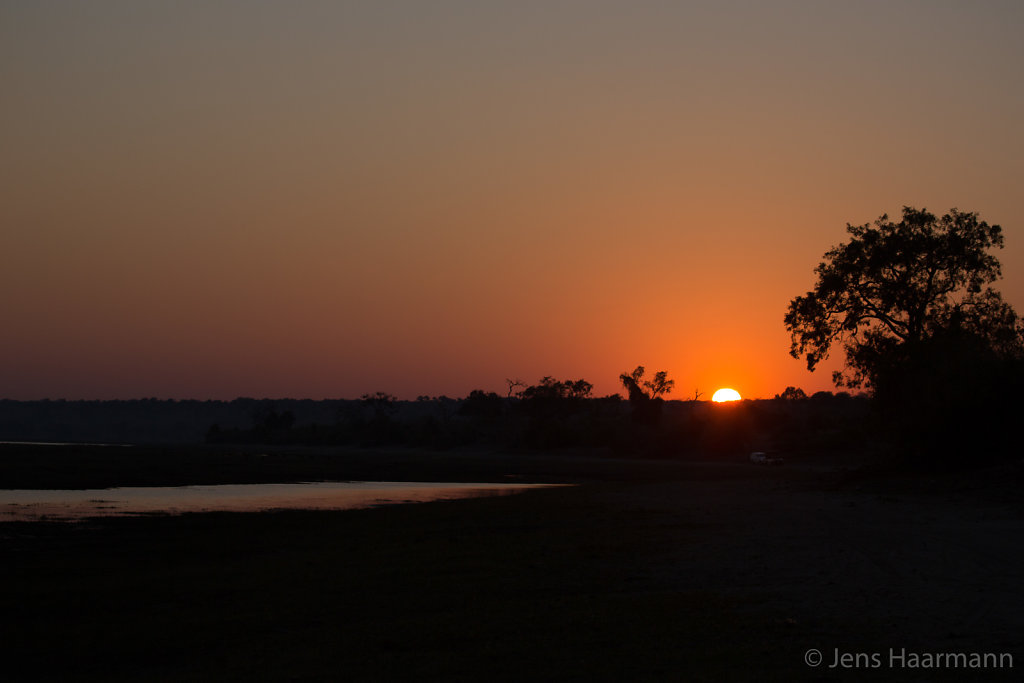 Sonnenaufgang am Chobe River